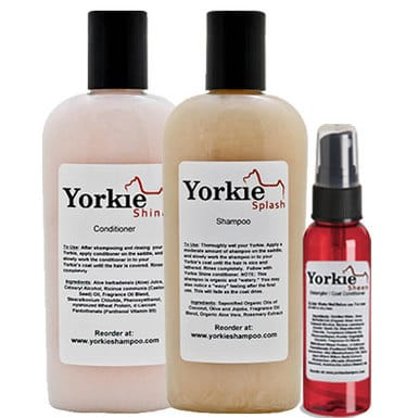 Yorkie Shine shampoo & conditioner