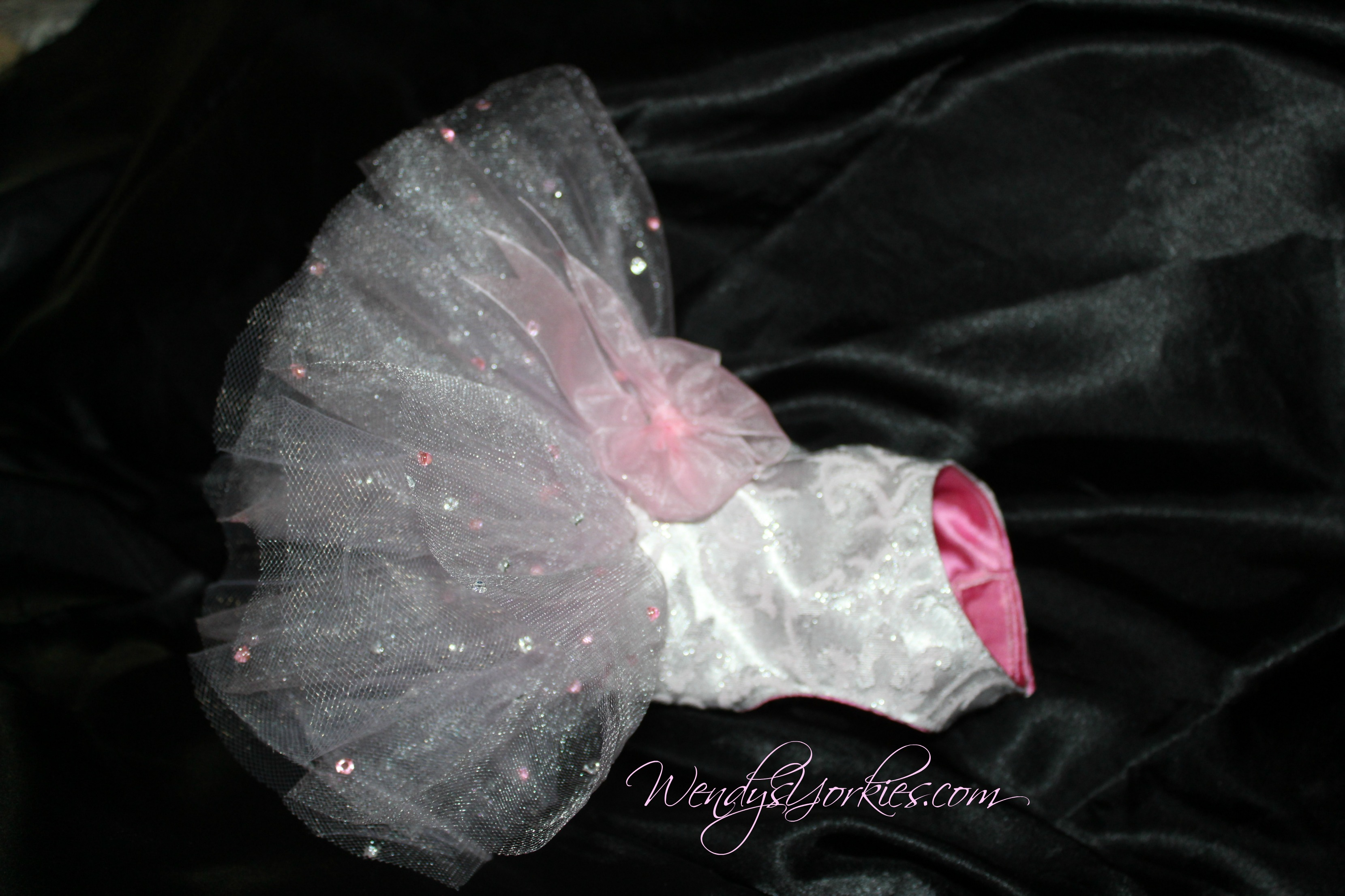 Pink Dog tutu dress, Tiny Dog clothes for sale, WendysYorkies.com