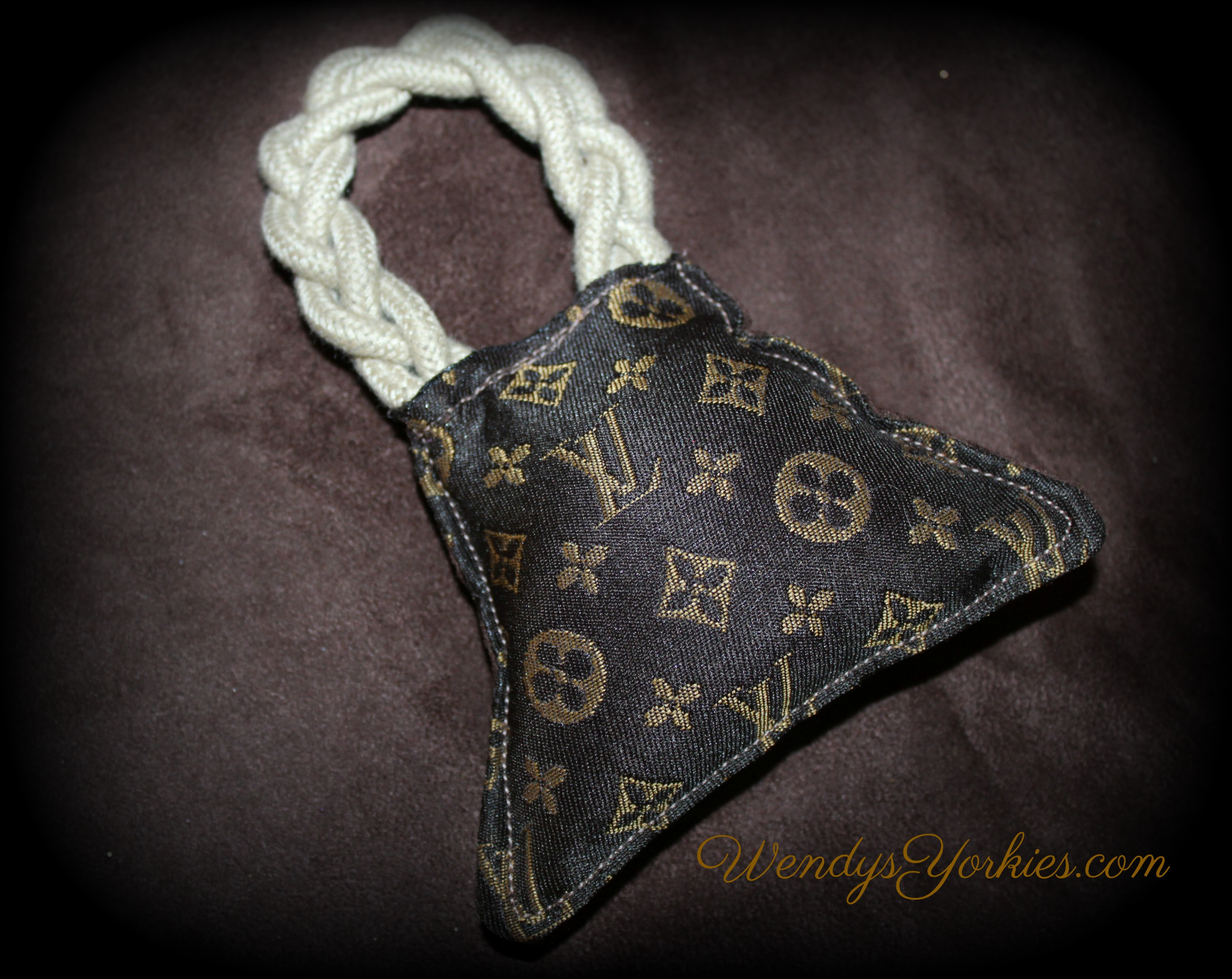 LV Dog purse toy, WendysYorkies.com