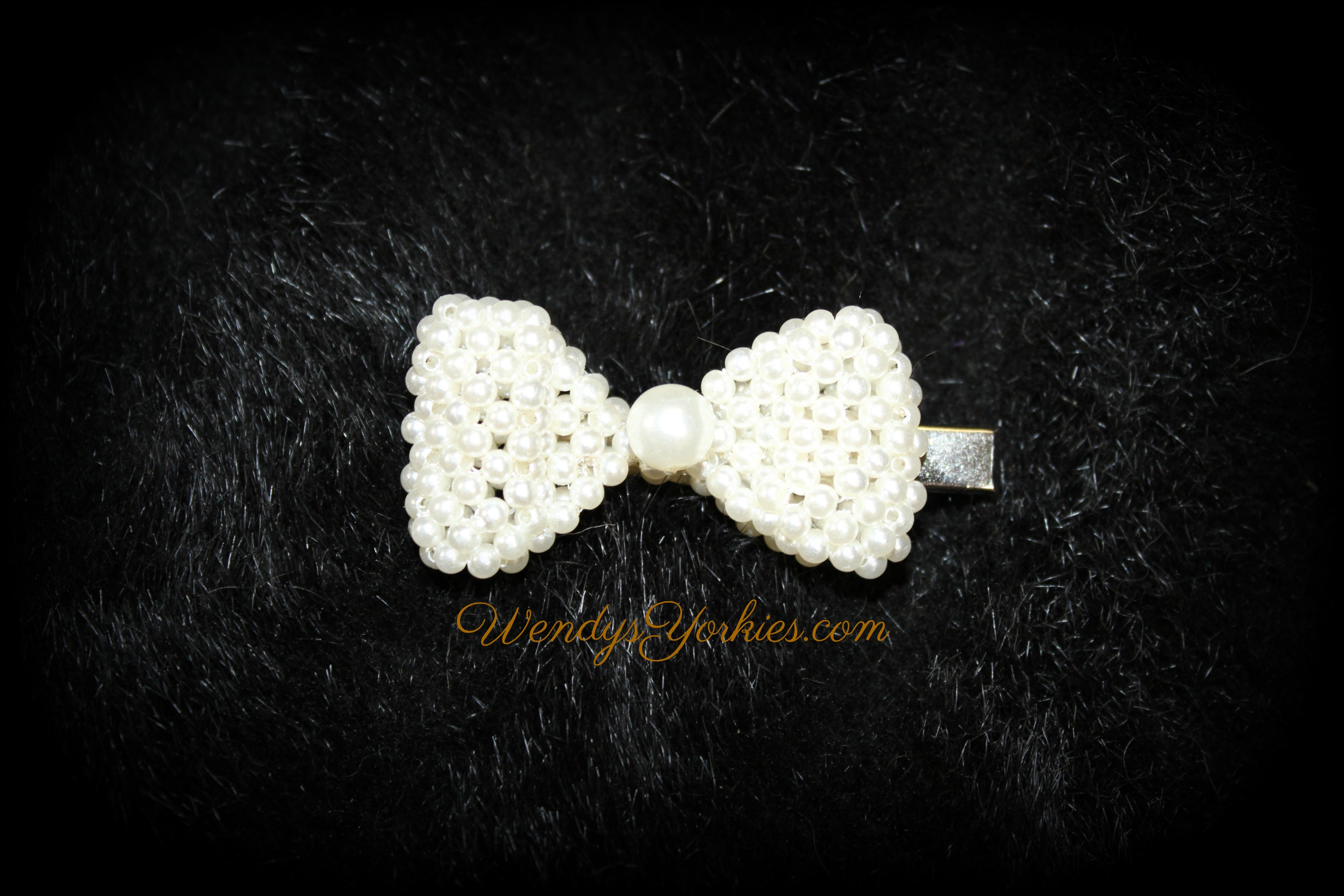 Pearl Dog bow, WendysYorkies.com