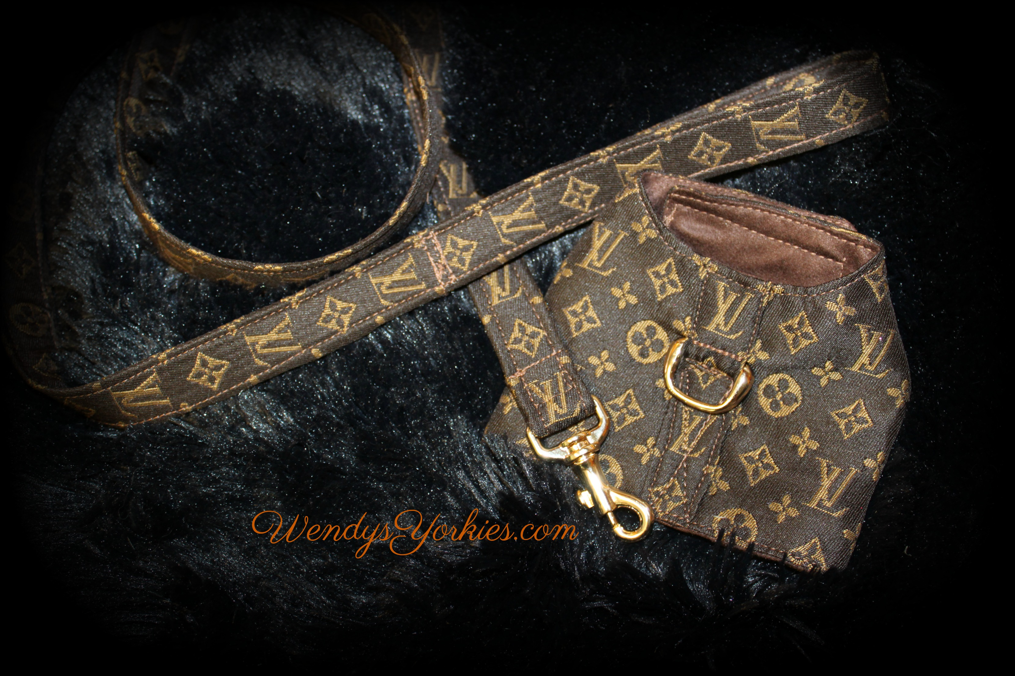 Lv Harness and leash combo, WendysYorkies.com