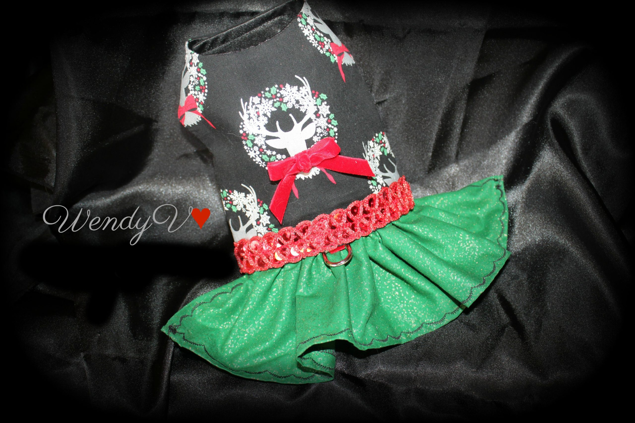 Christmas dog dress, Yorkie dress, WendysYorkies.com, Coco's Closet