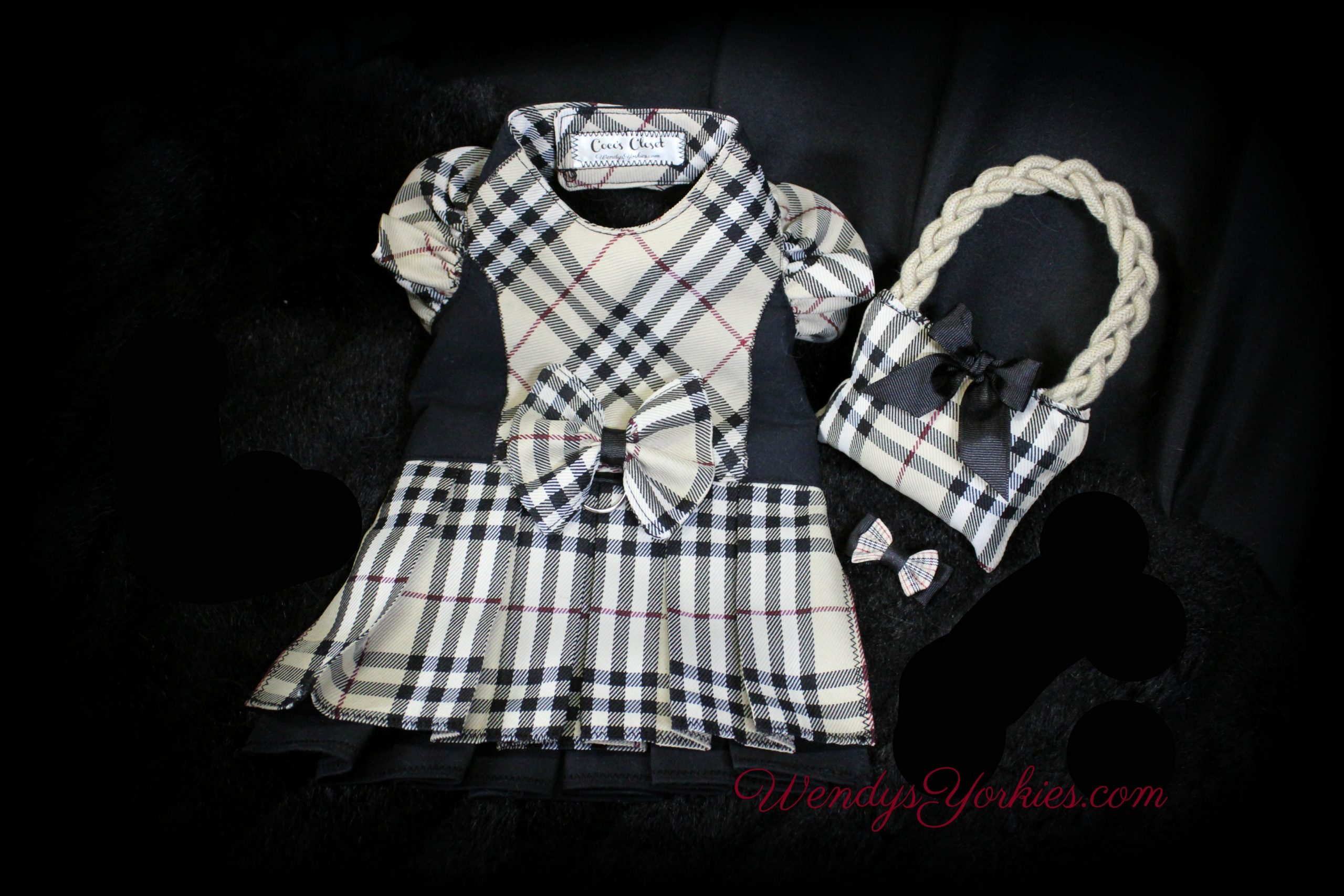Burberry Dog dress, Dog toy, Custom Dog clothes, WendysYorkies.com