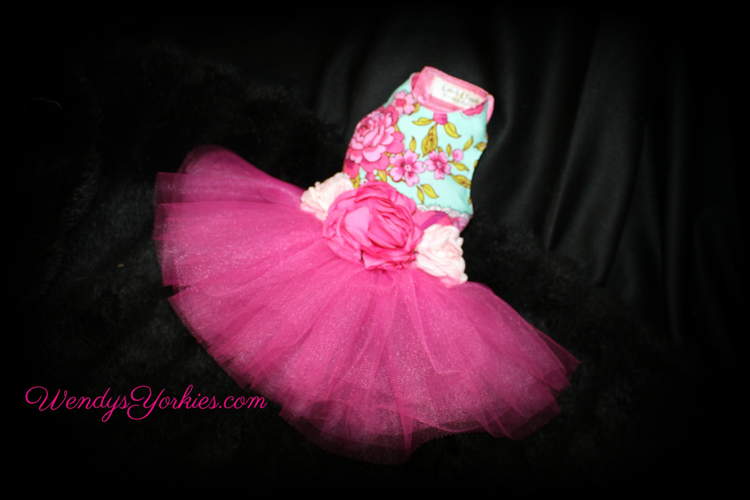 Roses, Dog Tutu dress, WendysYorkies.com