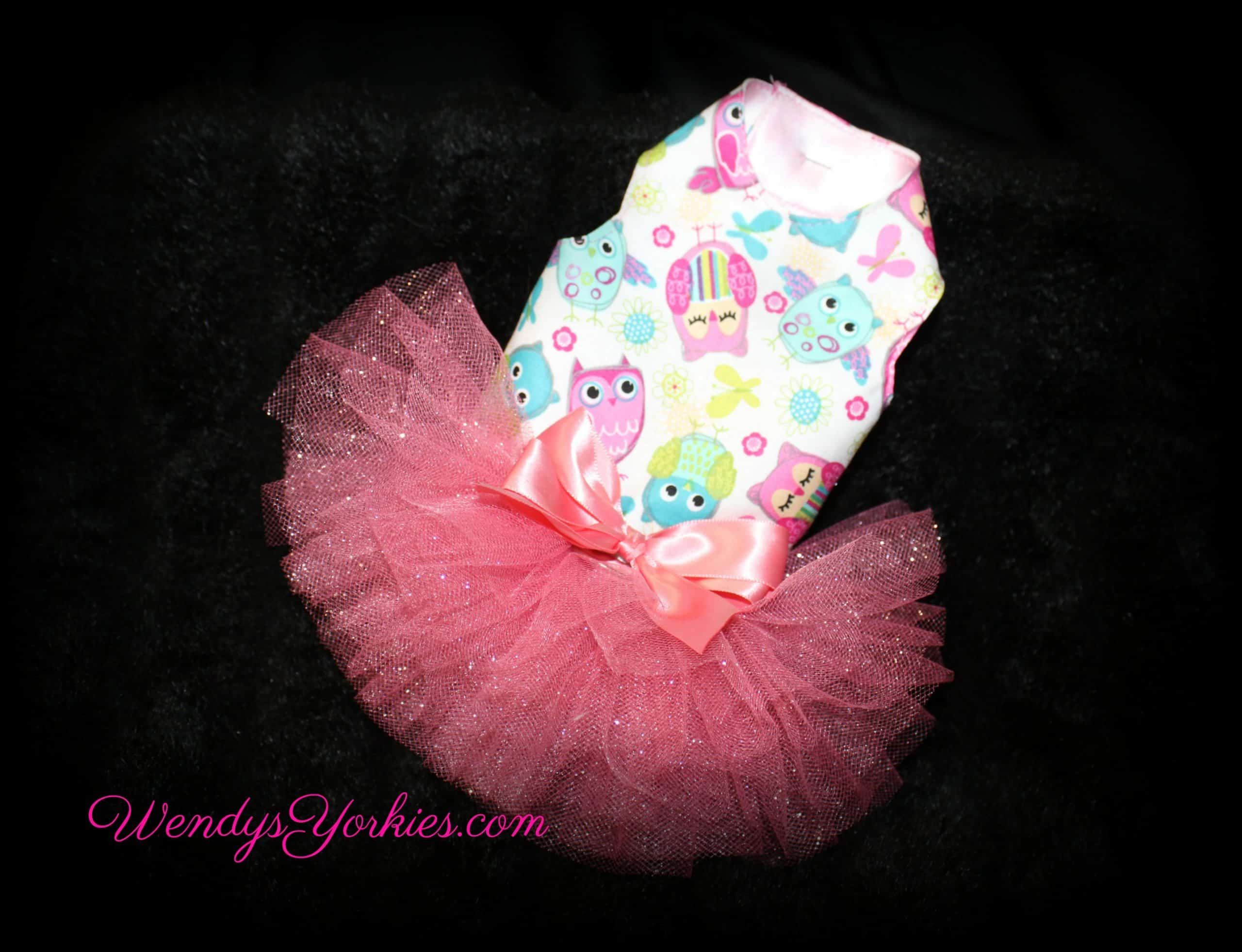 Owl, Tutu Dog Dress, XXS, WendysYorkies.com