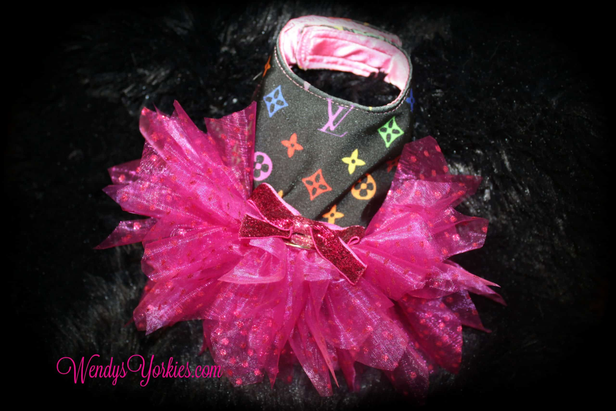 Pink LV Pixie Tutu Dog dress, WendysYOrkies.com