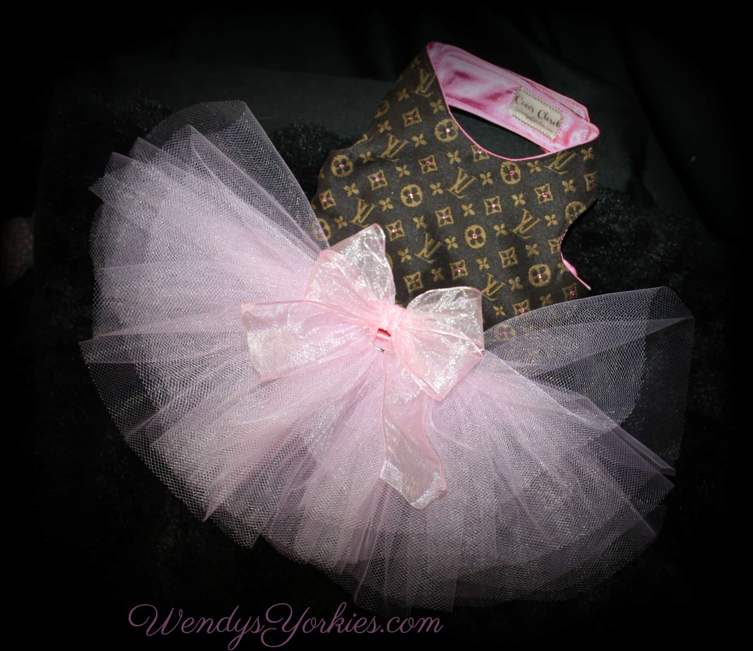Pink LV Tutu Dress, WendysYorkies.com