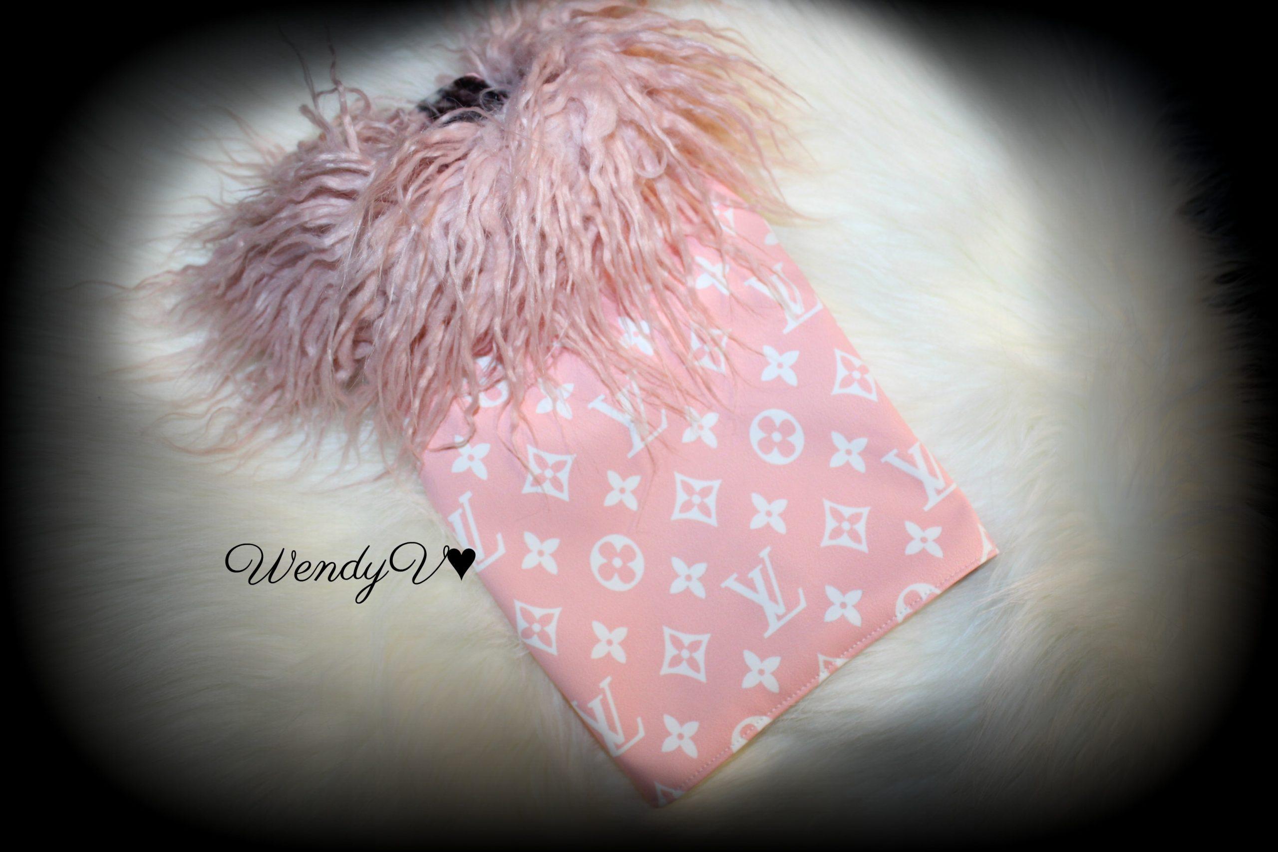 Pink Lv Dog Coat, Coco's Closet, WendysYorkies.com
